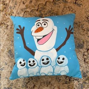 Olaf hand painted pillow GUC